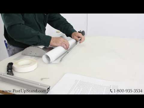 Post-Up Stand How To: Wide Base Banner Stand Poster Replacement Instructional Video