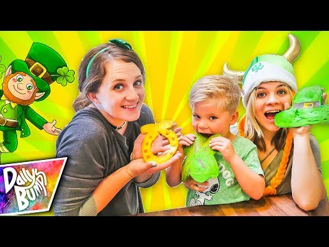 PANCAKE ART CHALLENGE! ☘️ Learn how to make St. Patrick's Day Emoji Pancakes!