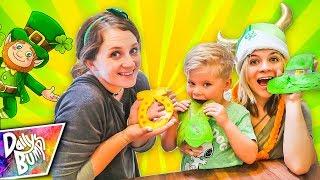 PANCAKE ART CHALLENGE! ☘️ Learn how to make St. Patrick's Day Emoji Pancakes!