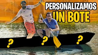 Personalizando un BOTE VIEJO ⛵ con un YOUTUBER FAMOSO! ft HaroldArtist | Especial 100k