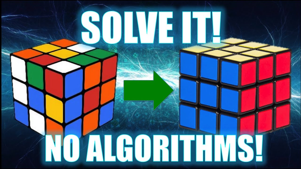 how to solve a 3x3 rubik s cube no algorithms  [ 1280 x 720 Pixel ]