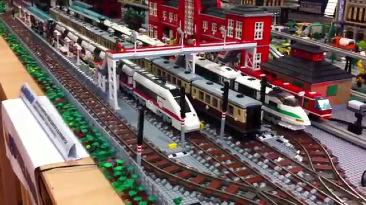 LEGO NXT monorail depot, trains and complex of tunnels at an ...