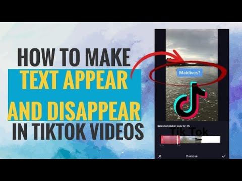 How To Make Text Appear And Disappear In Tiktok Videos Youtube