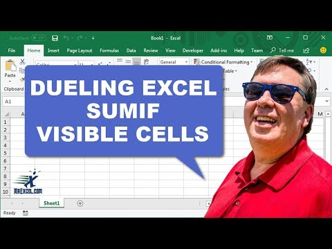Dueling Excel - SUMIF Visible Cells - Duel 187