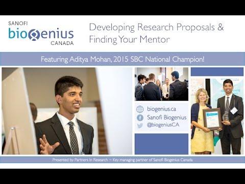 Sanofi Biogenius Canada Webinar - Proposals & Mentors