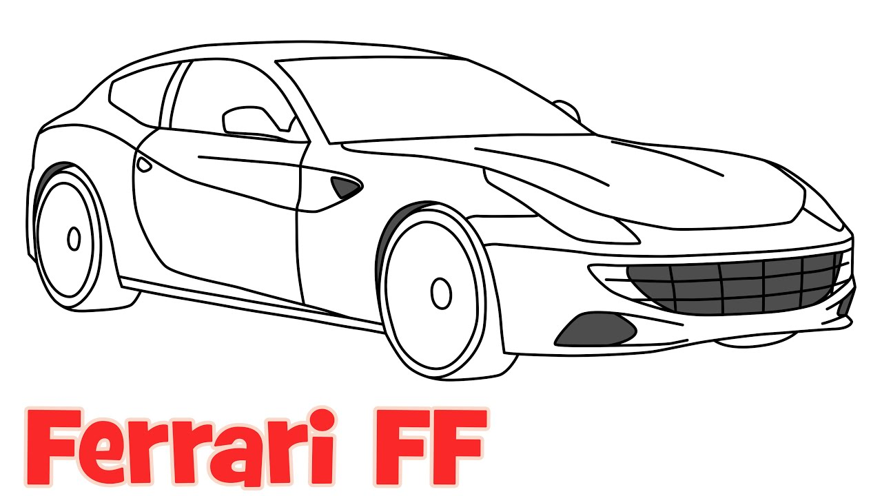 How To Draw A Car Ferrari FF Step By Step Easy Drawing For
