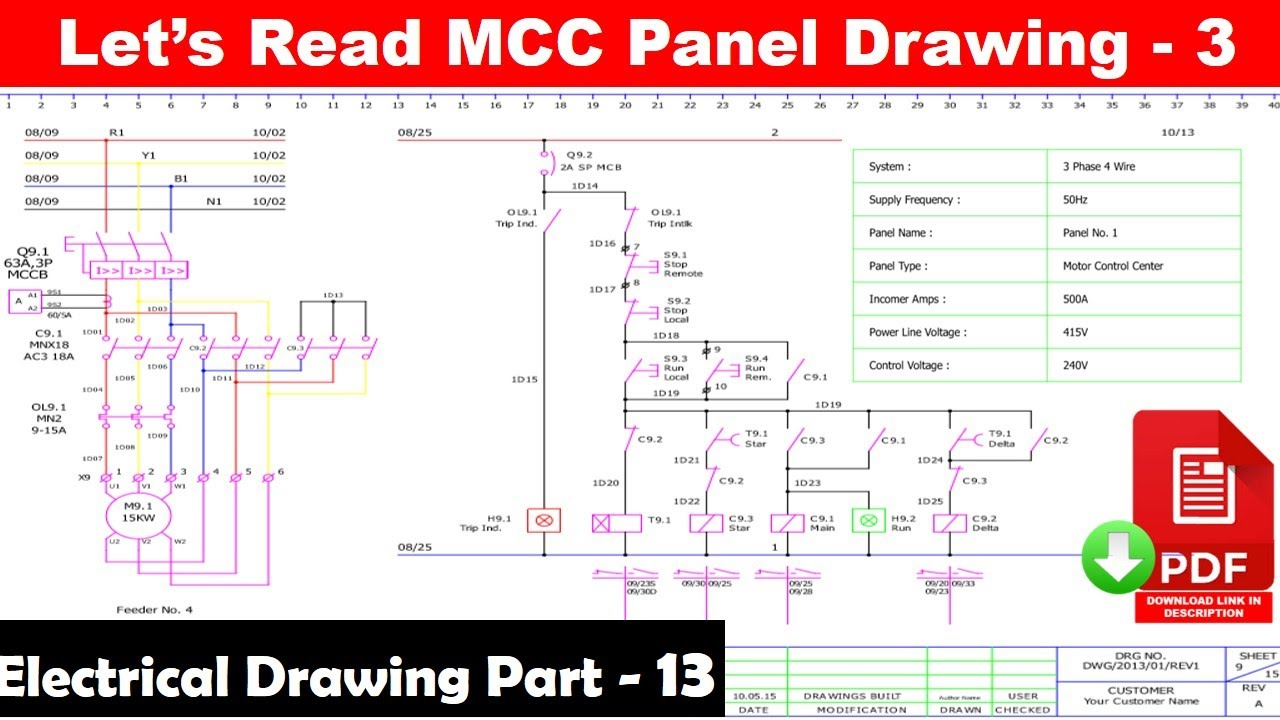 How to Read Electrical Drawing in Hindi   electrical drawing part 13   Electrical technician