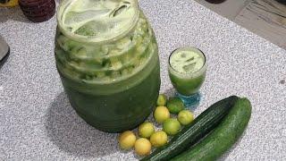 Deliciosa agua de pepino y limón saludable para negocio agua verde saludable y buena para el cuerpo