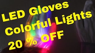 LED Gloves with included batteries - Christmas Toy for your kids