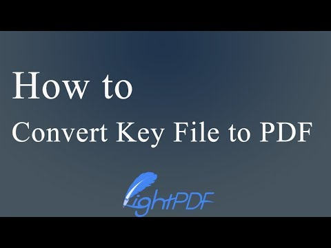 Free Solutions To Convert Key File To PDF