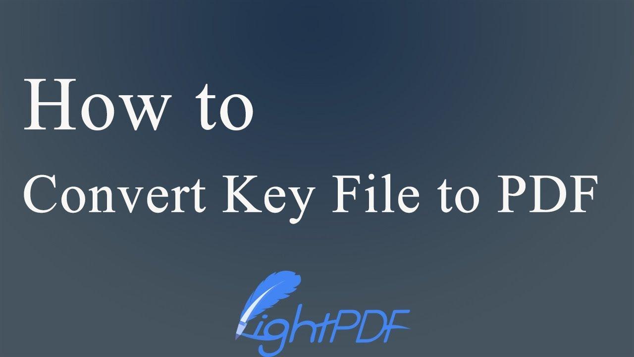 How to Convert Keynote to PDF (Windows & Mac)