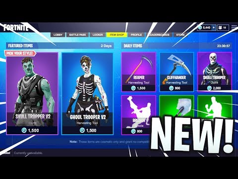 New Skull Trooper And Ghoul Trooper Skins In Fortnite Updated Holiday Skins Coming