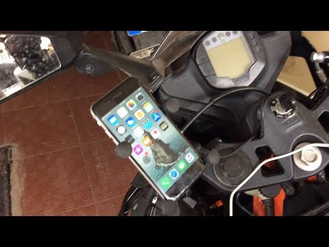 How to install the universal X-Grip mobile phone holder on KTM RC with wiring