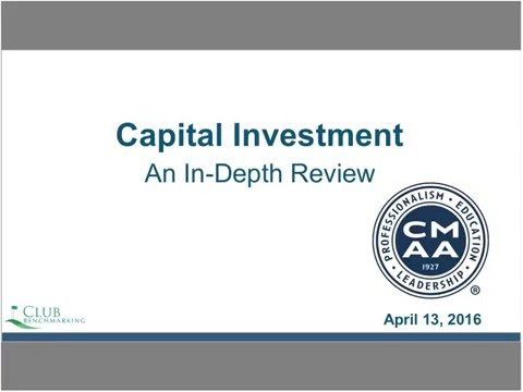 Capital Investment In The Club Industry