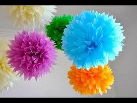 Pompom de papel de seda - PAP - YouTube 0b73bbba6dc