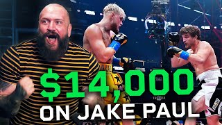 True Geordie WINS $14,000 on Jake Paul vs Ben Askren