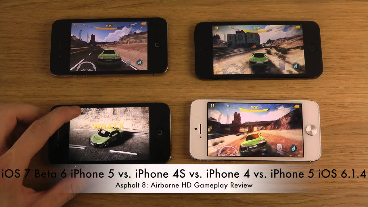 iOS 7 Beta 6 iPhone 5 vs. iPhone 4S vs. iPhone 4 vs ...Iphone 5 6 7