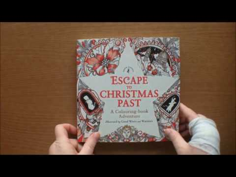Escape to Christmas Past by Good Wives and Warriors colouring book flip through
