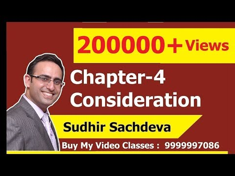 Indian Contract Act 1872- Chapter-4 Consideration (Part-1)