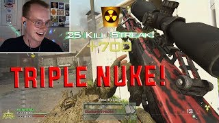 TRIPLE SNIPER NUKE ON NUKETOWN (MW2 IW4X PC)