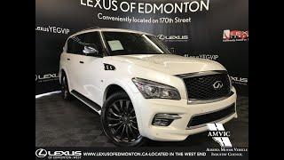 White 2017 INFINITI QX80 Limited Review Edmonton Alberta - Lexus of Edmonton