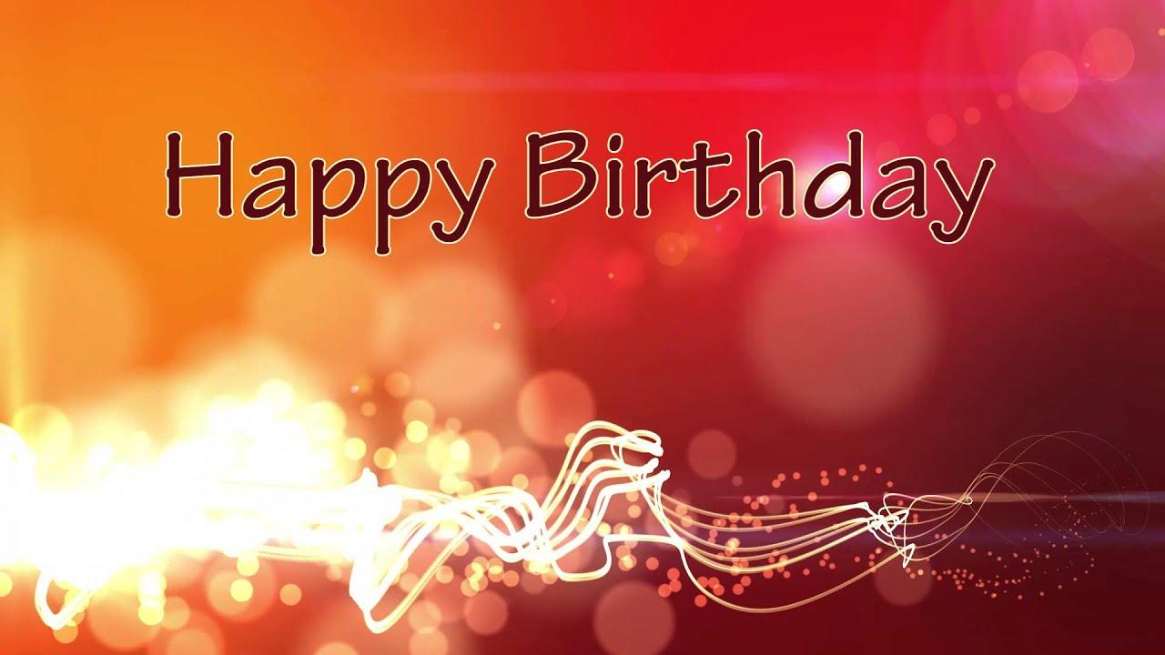 happy birthday - motion graphics background