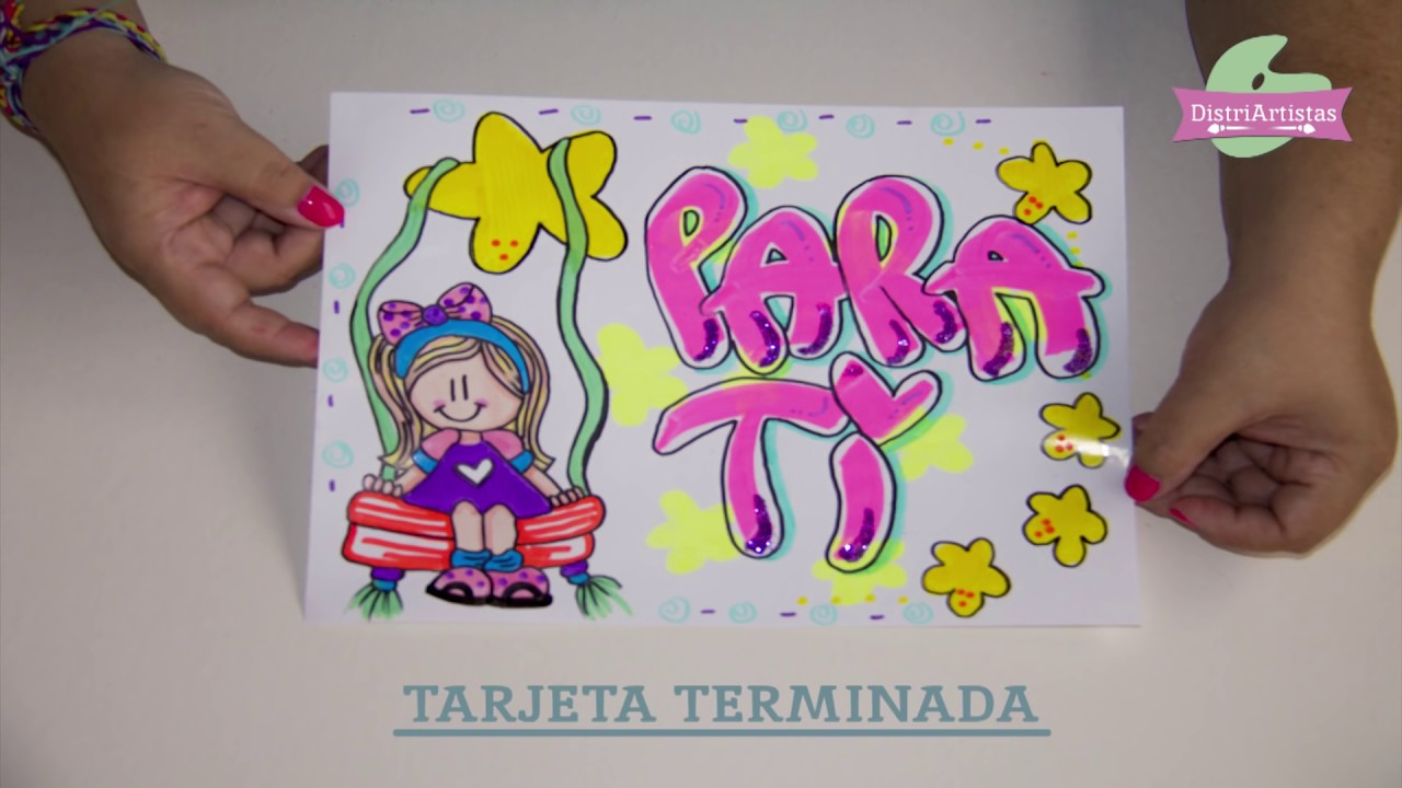Letra Timoteo En Tarjeta Diy Super Facil Con Dibujo De Munequita