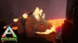 Minecraft Ark Coop #22: Cùng yeti bắt Rồng đá dưới dung nham - Megarock Dragon