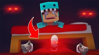 BEBE MILO has a MOSNTRUO under the BED *at 3am* 😱 MINECRAFT ROLEPLAY TERROR + ROBLOX