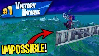 I WON doing the HARDEST SKYBASE challenge on Fortnite! (99.9% FAIL)