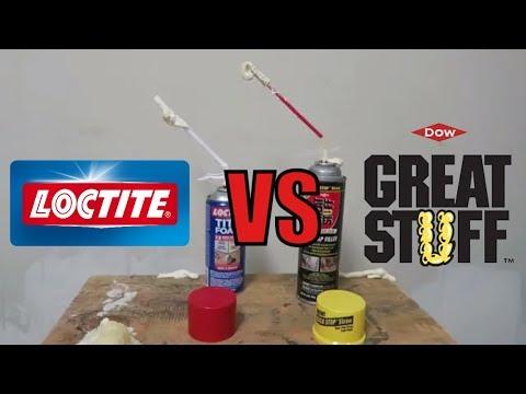 TG Loctite VS Great Stuff Expanding Foam