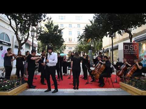 Ensayo de la Ceuta Symphony Orchestra en la Plaza de España de Ceuta