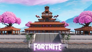 Fortnite Creative: The Block - Building a Chinese Temple (Speed Build)
