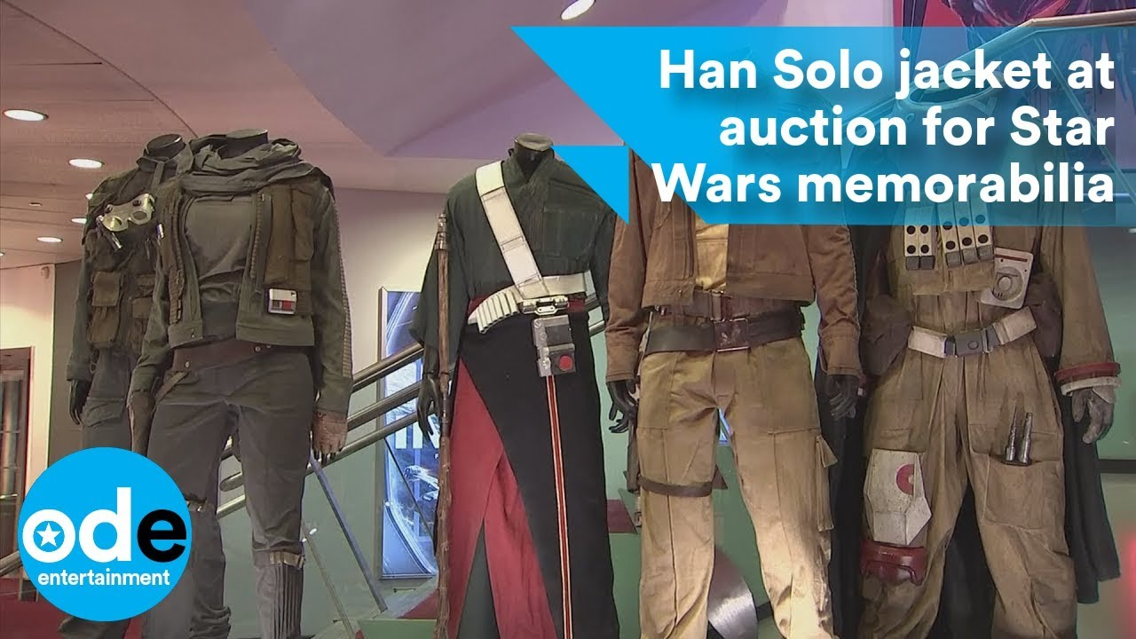 5e931f6c939 Han Solo jacket at auction with Star Wars memorabilia - YouTube