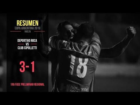 Copa Argentina 2019: Deportivo Roca 3 - 1 Cipolletti (Resumen)