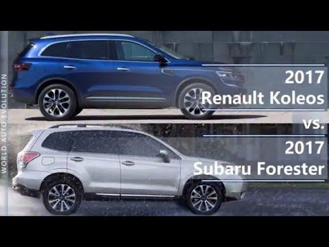 2017 Renault Koleos vs 2017 Subaru Forester (technical comparison)
