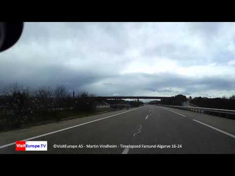 Norge Portugal 16 24 Driving Farsund-Algarve; Galaxy Note Video