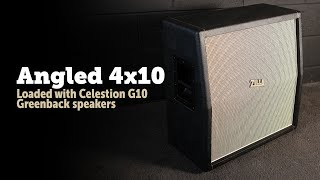 Zilla Cabs Custom 4x10 loaded with Celestion G10 Greenback's