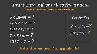 RÉSULTAT TIRAGE EUROMILLIONS 20 FEVRIER