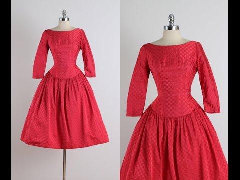 Платье в стиле ретро. Моделируем в 2 - х вариантах.