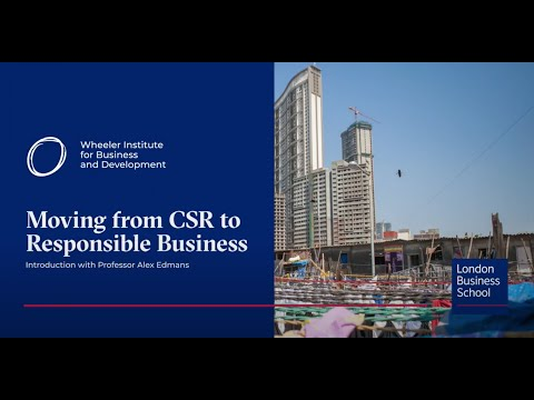 Moving from CSR to responsible business
