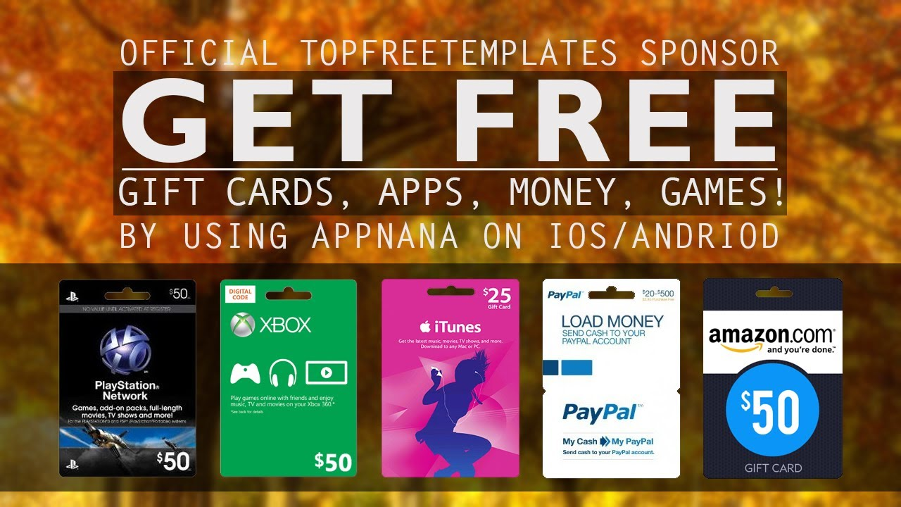How To Get FREE Xbox/PSN/Amazon/Steam Giftcards - AppNana Sponsors ...