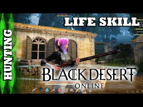 Black Desert - LifeSkill Hunting - Getting Started: Deer God, Crocodile, Whales