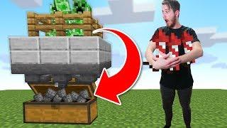 Building An Infinite Creeper Farm On Hardcore! | Minecraft