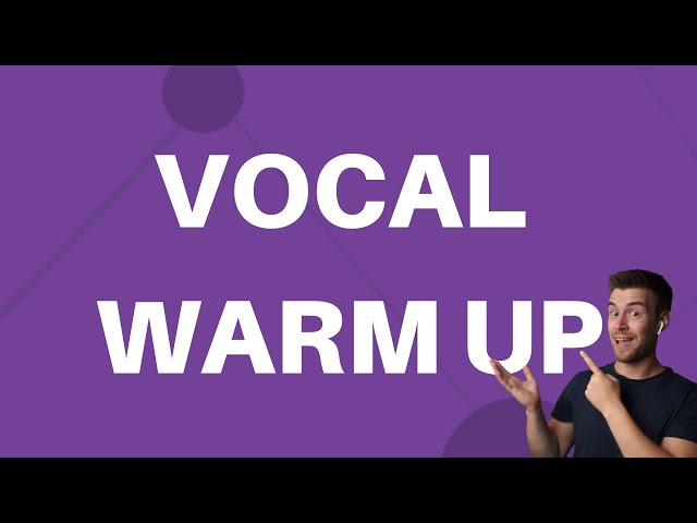 Vocal Warm Up Exercise #4 - Short Ah