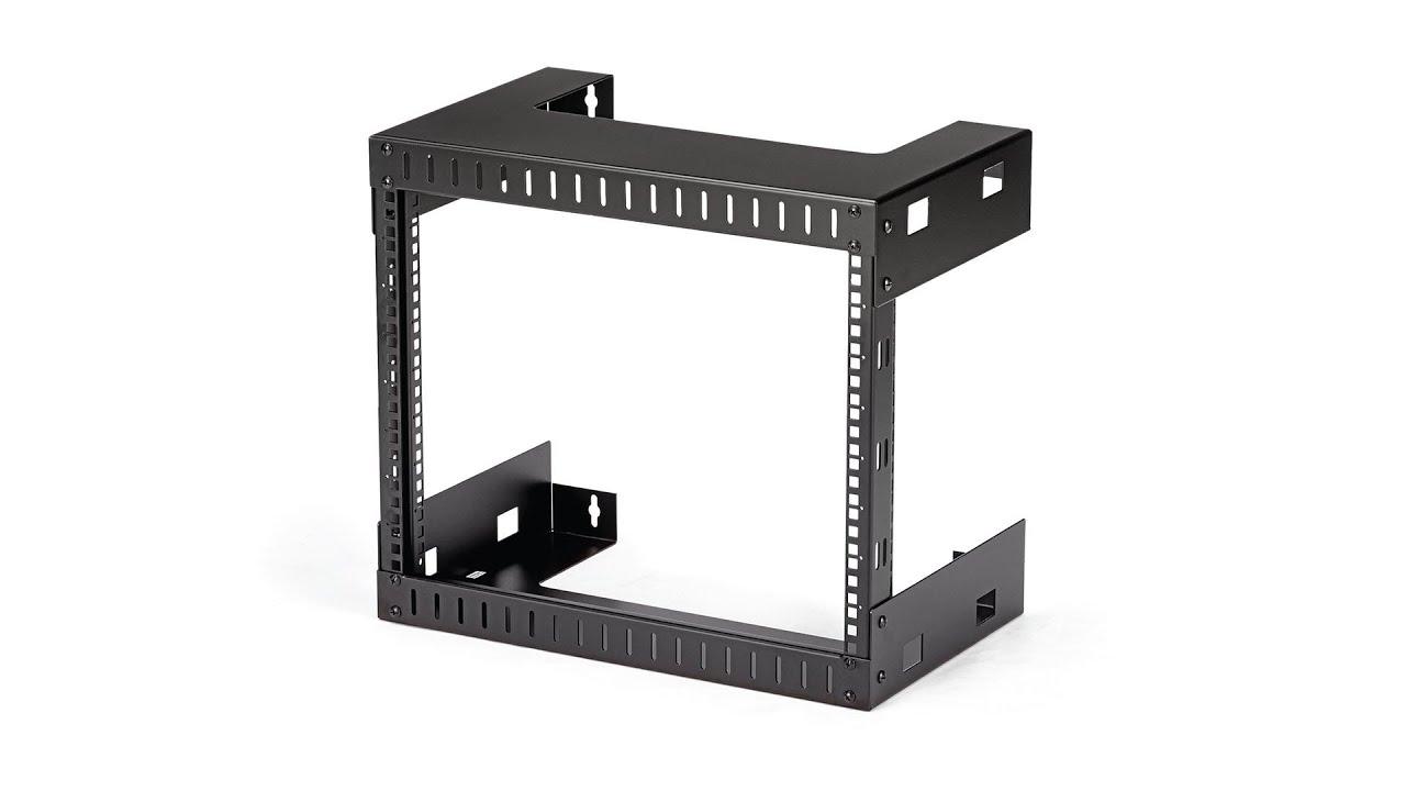 8u wall mount network rack 12in deep
