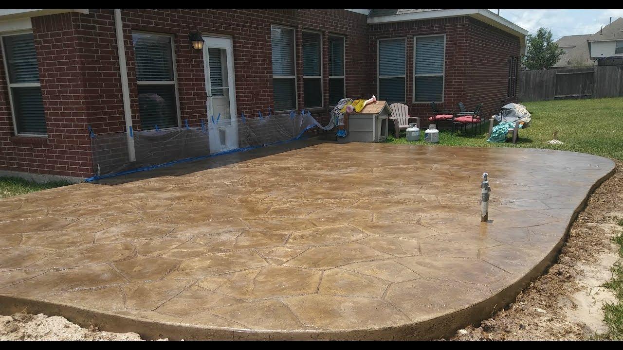 Beau Stamped Concrete Installation   Houston TX