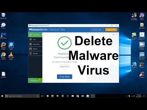 How to Remove a virus from your computer - FREE Virus Removal Software: Malwarebytes 2017