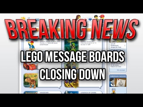 Lego Message Boards Closing Down!