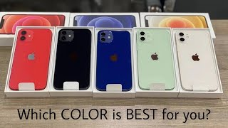 iPhone 12 All Colors Unboxing & Hands On  | Black, Blue, Green, White, Red | Color Comparison